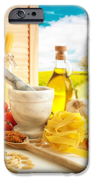 Italian Pasta In Country Kitchen iPhone Case by Amanda And Christopher Elwell