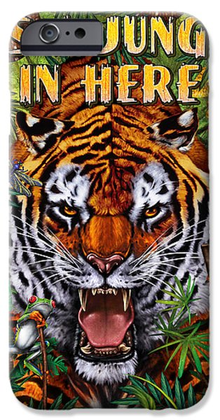Zoo iPhone Cases - Its a Jungle  iPhone Case by JQ Licensing