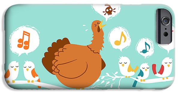 Cartoon Birds iPhone Cases - Its a sing along iPhone Case by Budi Kwan
