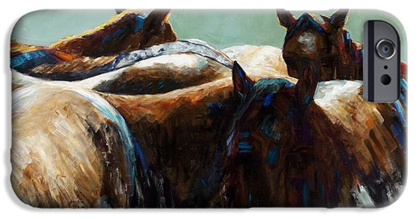 Equine Art iPhone Cases - Its All About the Brush Stroke iPhone Case by Frances Marino