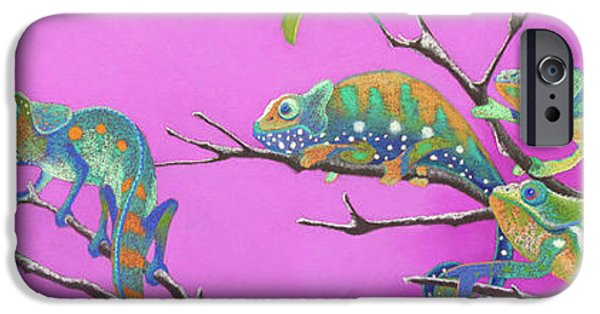 Chameleon iPhone Cases - Its All Just an Illusion iPhone Case by Tracy L Teeter