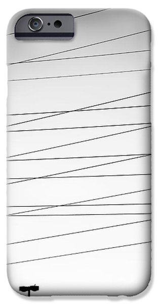 Electrical iPhone Cases - Its Electric 2 BW iPhone Case by Patrick M Lynch