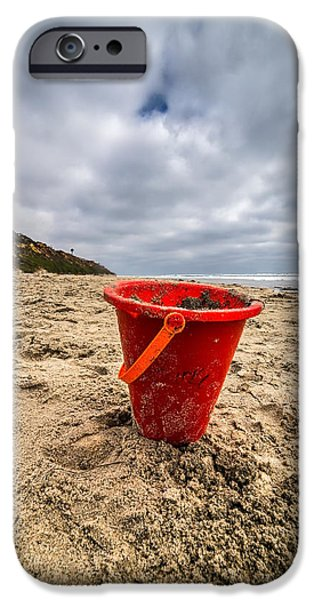 Sand Castles iPhone Cases - Its Good You Went to The Beach You look a Little Pail iPhone Case by Peter Tellone