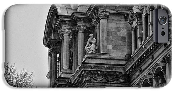 Philadelphia City Hall iPhone Cases - Its in the Details - Philadelphia City Hall iPhone Case by Bill Cannon