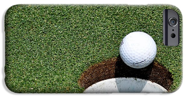 Golfer iPhone Cases - Its In The Hole iPhone Case by Shawn Wood