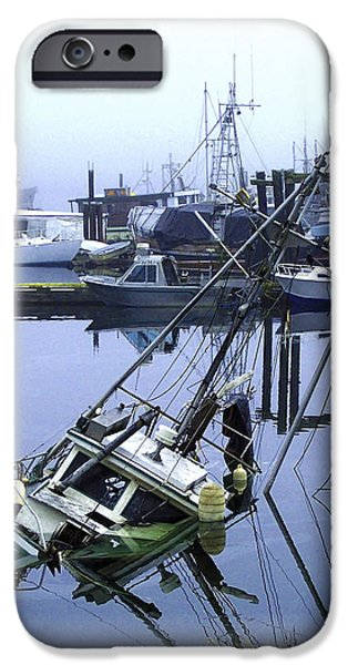 Port Hardy iPhone Cases - Its JUST A Little Leak 2 iPhone Case by Larry Kohlruss