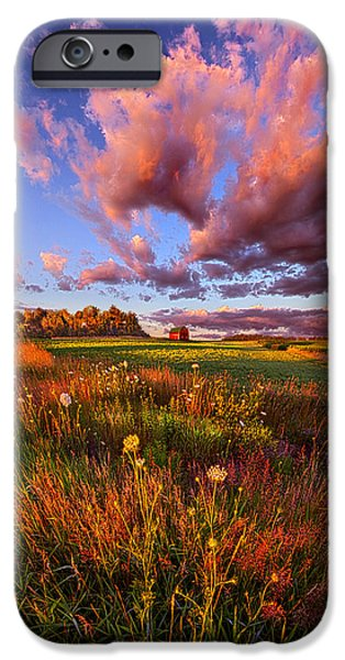 Field. Cloud iPhone Cases - Its Like Going to Heaven with Your Feet Still on the Ground iPhone Case by Phil Koch
