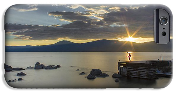 Lake Tahoe iPhone Cases - Its Not The End My Dear iPhone Case by Jeremy Jensen