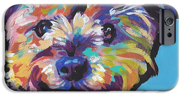 Yorkshire Terrier Art iPhone Cases - Itsy Bitsy Best Friend iPhone Case by Lea