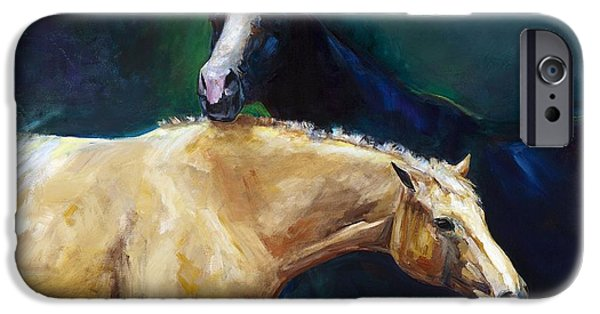 Abstract On Canvas Paintings iPhone Cases - Ive Got Your Back iPhone Case by Frances Marino