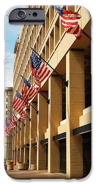 Law Enforcement iPhone Cases - J Edgar Hoover FBI Headquarters iPhone Case by James Kirkikis