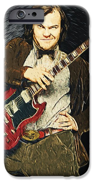 Foo Fighters iPhone Cases - Jack Black iPhone Case by Taylan Soyturk