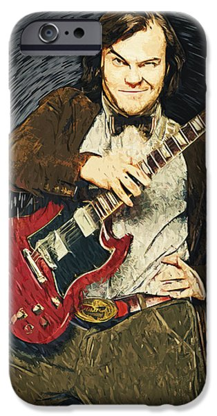 Foo Fighters iPhone Cases - Jack Black iPhone Case by Taylan Soyturk