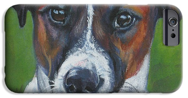 Jack Russell iPhone Cases - Jack Russell Terrier iPhone Case by Lee Ann Shepard