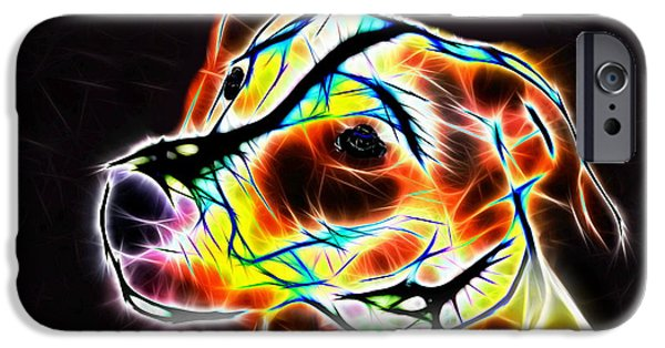 Abstractions iPhone Cases - Jack Russell Terrier Luminous iPhone Case by Alexey Bazhan