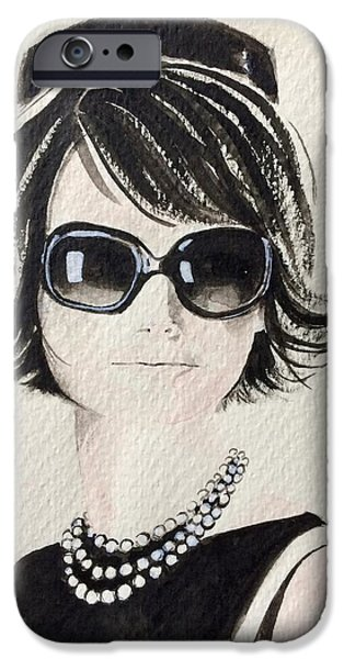 First Lady iPhone Cases - Jackie  iPhone Case by Barbara Chase