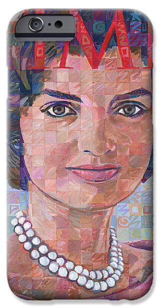 First Lady iPhone Cases - Jackie Kennedy Time Tribute iPhone Case by Randal Huiskens