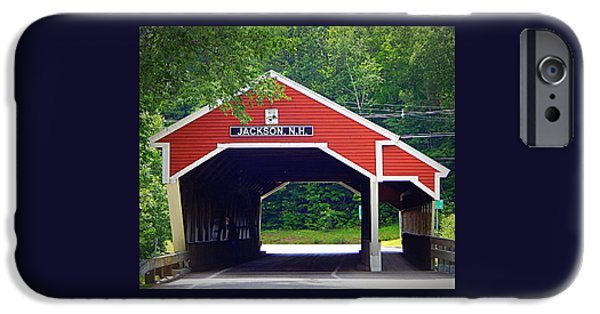 Covered Bridge iPhone Cases - Jackson iPhone Case by Karen Cook