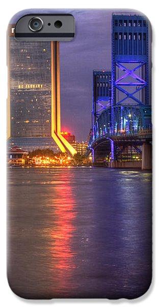 Jacksonville at Dusk iPhone Case by Debra and Dave Vanderlaan