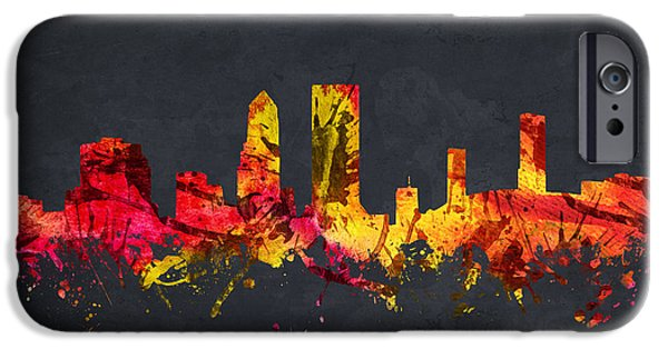 Jacksonville iPhone Cases - Jacksonville Cityscape 07 iPhone Case by Aged Pixel
