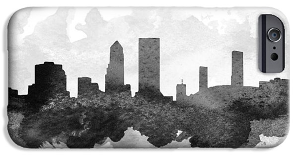 Jacksonville iPhone Cases - Jacksonville Cityscape 11 iPhone Case by Aged Pixel