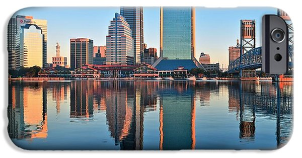 States iPhone Cases - Jacksonville Mirror Image iPhone Case by Frozen in Time Fine Art Photography