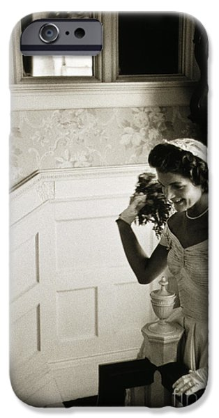 JACQUELINE KENNEDY iPhone Case by Granger