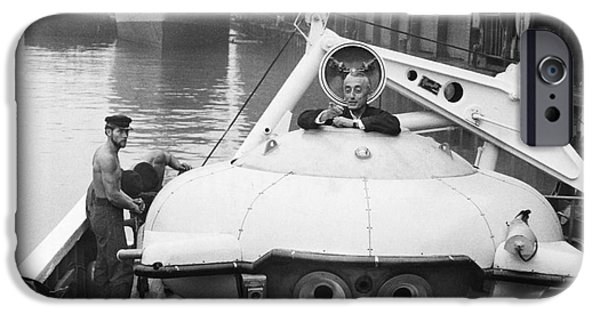 Hudson River iPhone Cases - Jacques Cousteau (1910-1997) iPhone Case by Granger