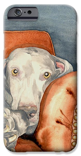 Weimaraners iPhone Cases - Jade iPhone Case by Brazen Edwards