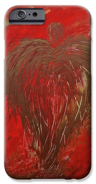 Vision Paintings iPhone Cases - Jaded Angel iPhone Case by Marianna Mills