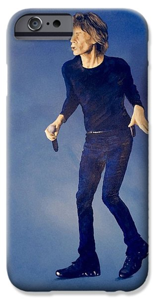 Mick Jagger Paintings iPhone Cases - Jagger Strutt iPhone Case by Mark Davis