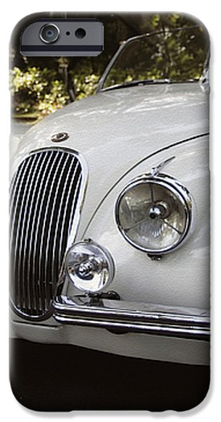 Jaguar XK120 Doing a Time Out iPhone Case by Curt Johnson