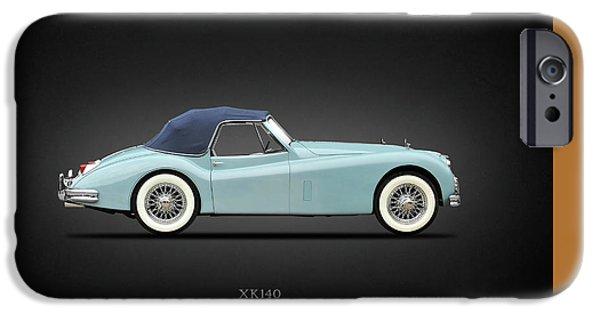 Jaguars iPhone Cases - Jaguar XK140 iPhone Case by Mark Rogan