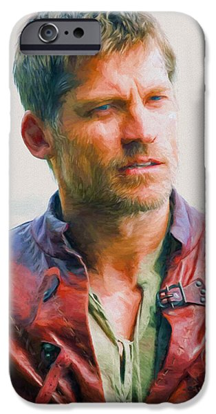 Celebrities Art iPhone Cases - Jaime Lannister I - Game Of Thrones iPhone Case by Nikola Durdevic