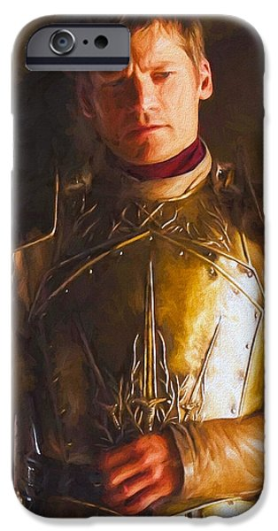 Celebrities Art iPhone Cases - Jaime Lannister II - Game Of Thrones iPhone Case by Nikola Durdevic