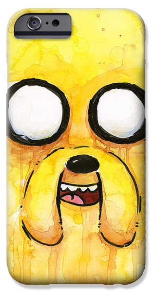 Face Mixed Media iPhone Cases - Jake iPhone Case by Olga Shvartsur