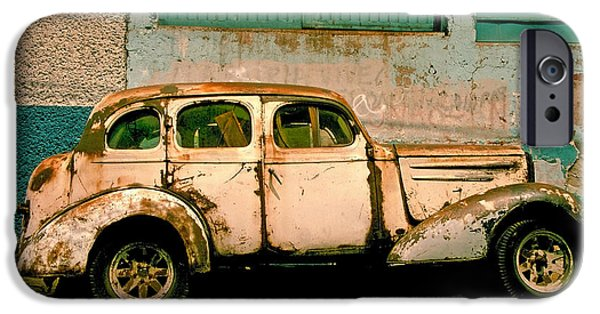 Rusted Cars iPhone Cases - Jalopy iPhone Case by Skip Hunt
