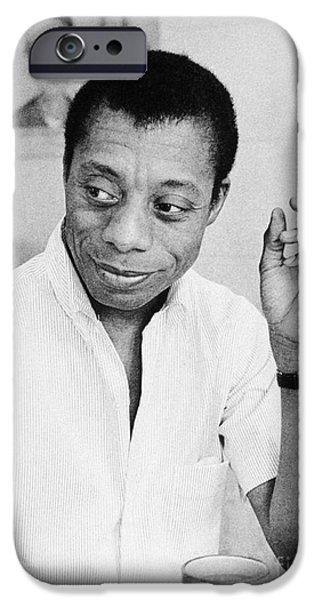 1950s Portraits iPhone Cases - James Baldwin (1924-1987) iPhone Case by Granger