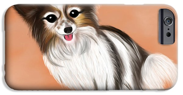 Puppies iPhone Cases - James Blonde - a Papillon with celebrity status iPhone Case by Beverley Brown