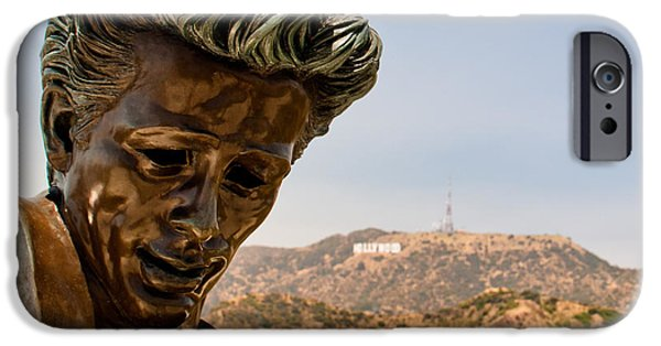 1955 Movies Photographs iPhone Cases - James Dean - Griffith Observatory iPhone Case by Natasha Bishop