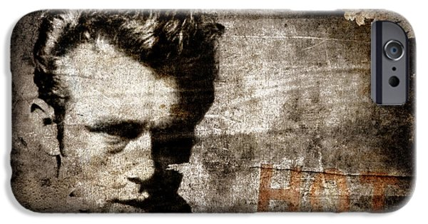 Dean iPhone Cases - James Dean HOT iPhone Case by Carol Leigh