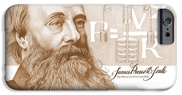 Prescott iPhone Cases - James Prescott Joule iPhone Case by John D Benson