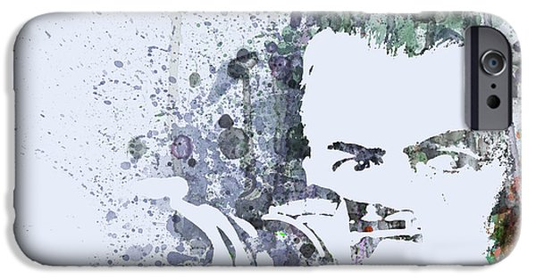 Window Paintings iPhone Cases - James Steward  Rear Window iPhone Case by Naxart Studio