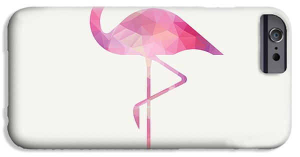 Mosaic iPhone Cases - Jamess Flamingo iPhone Case by Taylan Soyturk