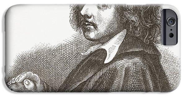 Lieven iPhone Cases - Jan Lievens, 1607 iPhone Case by Ken Welsh