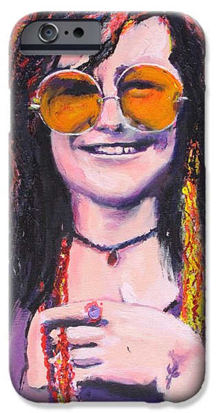 Janis Joplin 2 iPhone Case by Eric Dee
