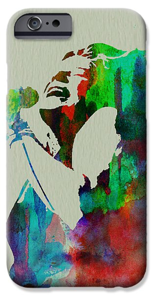 Band Paintings iPhone Cases - Janis Joplin iPhone Case by Naxart Studio