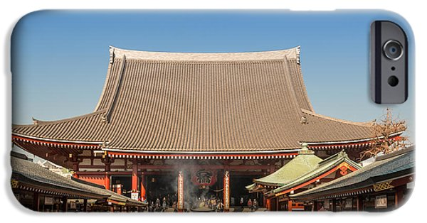 Old Reliefs iPhone Cases - Japan Old Bldg iPhone Case by Wajih Ben taleb