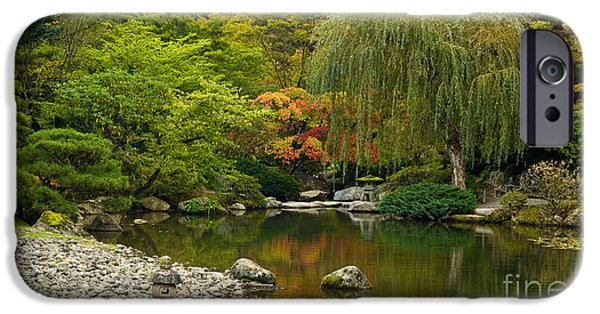 Japanese Garden iPhone Cases - Japanese Gardens iPhone Case by Mike Reid