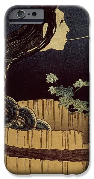 Ghost Story iPhone Cases - Japanese Ghost iPhone Case by Hokusai